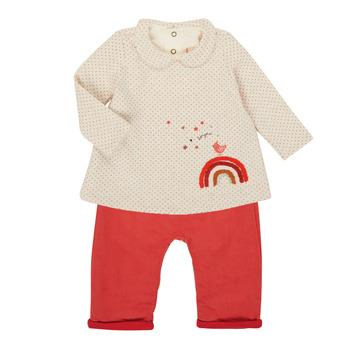 Abbigliamento Bambina Completo Catimini CR36031-60 Rosa