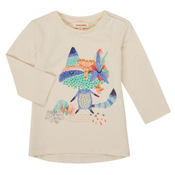Abbigliamento Bambina T-shirts a maniche lunghe Catimini CR10053-12 Bianco