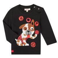 Abbigliamento Bambino T-shirts a maniche lunghe Catimini CR10022-02 Nero
