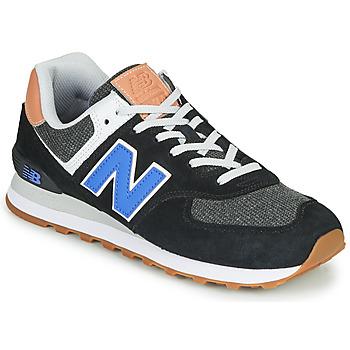 Scarpe Uomo Sneakers basse New Balance 574 Nero / Blu