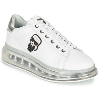 Scarpe Donna Sneakers basse Karl Lagerfeld KAPRI KUSHION KARL IKONIC LO LACE Bianco / Argento