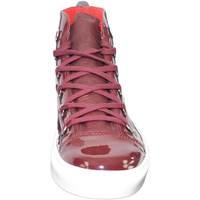 Scarpe Uomo Sneakers alte Made In Italia Sneakers alta scarpe bale uomo sportivo  vera pell BORDEAUX