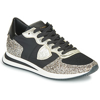 Scarpe Donna Sneakers basse Philippe Model TROPEZ X BASIC Nero / Argento