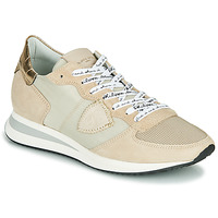Scarpe Donna Sneakers basse Philippe Model TROPEZ X MONDIAL CROCO Beige
