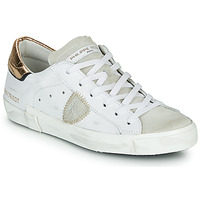 Scarpe Donna Sneakers basse Philippe Model PARIS X VEAU CROCO Bianco / Oro