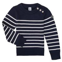 Abbigliamento Unisex bambino Maglioni Petit Bateau LOX Marine / Bianco