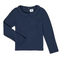 Abbigliamento Bambina T-shirts a maniche lunghe Petit Bateau LOVING Marine