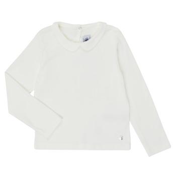 Abbigliamento Bambina T-shirts a maniche lunghe Petit Bateau LOVING Bianco
