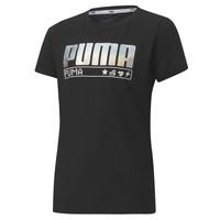 Abbigliamento Bambina T-shirt maniche corte Puma ALPHA TEE 165 Nero