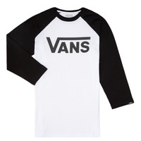 Abbigliamento Bambino T-shirts a maniche lunghe Vans VANS CLASSIC RAGLAN Nero / Bianco