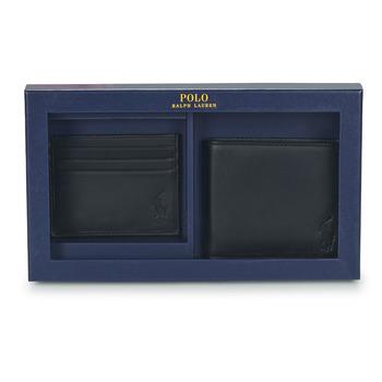 Borse Uomo Portafogli Polo Ralph Lauren Billfold & CardCase Gift Set Nero