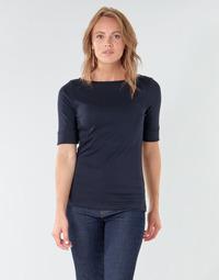 Abbigliamento Donna T-shirts a maniche lunghe Lauren Ralph Lauren JUDY Marine