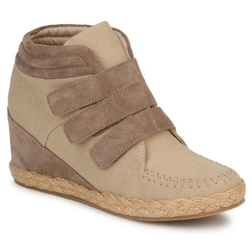 No Name SPLEEN STRAPS Beige / Taupe Scarpe Sneakers alte Donna 63,00