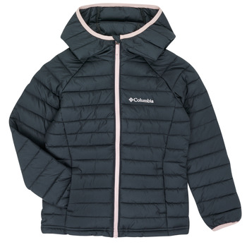 Abbigliamento Bambina Piumini Columbia POWDER LITE HOODED JACKET Nero