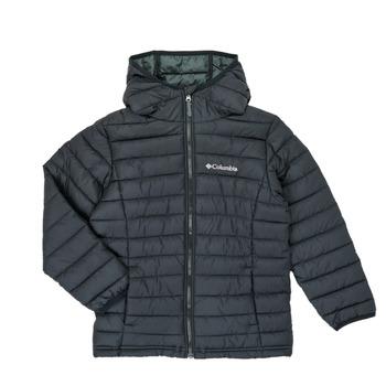 Abbigliamento Bambino Piumini Columbia POWDER LITE HOODED JACKET Nero