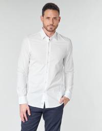 Abbigliamento Uomo Camicie maniche lunghe G-Star Raw DRESSED SUPER SLIM SHIRT LS Bianco