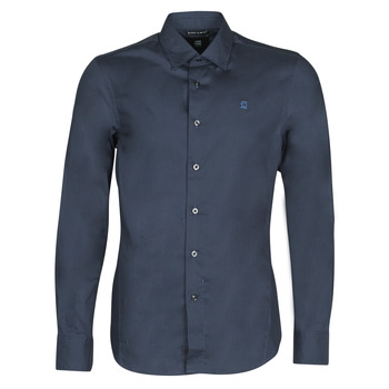 Abbigliamento Uomo Camicie maniche lunghe G-Star Raw DRESSED SUPER SLIM SHIRT LS Blu