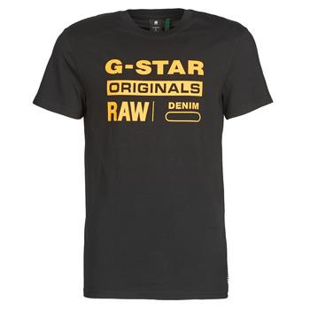 Abbigliamento Uomo T-shirt maniche corte G-Star Raw COMPACT JERSEY O Nero