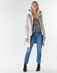 Abbigliamento Donna Cappotti Oakwood LILIANA BI Ivorio / Grigio