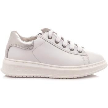 Scarpe Bambina Sneakers basse Naturino Scarpe Sneakers Basse Bambina Pelle Bianco-Argento bianco, argento