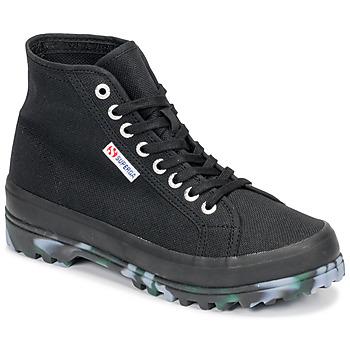 Scarpe Donna Sneakers alte Superga 2341 ALPINA MARBLEGUM Nero