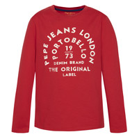Abbigliamento Bambino T-shirts a maniche lunghe Pepe jeans ANTONI Rosso