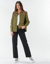 Abbigliamento Donna Jeans dritti Levi's RIBCAGE STRAIGHT ANKLE Black / Cuore
