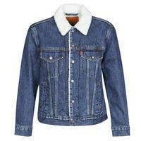 Abbigliamento Donna Giacche in jeans Levi's EX-BF SHERPA TRUCKER Blu