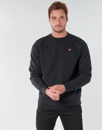 Abbigliamento Uomo Felpe Levi's NEW ORIGINAL CREW Nero