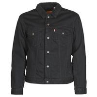 Abbigliamento Uomo Giacche in jeans Levi's TYPE 3 SHERPA TRUCKER Nero