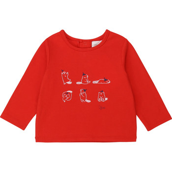 Abbigliamento Bambina T-shirts a maniche lunghe Carrément Beau Y95252 Rosso