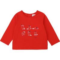 Abbigliamento Bambina T-shirts a maniche lunghe Carrément Beau Y95252 Rosso