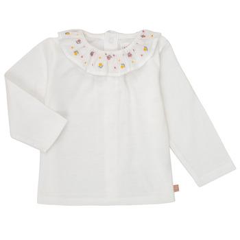 Abbigliamento Bambina T-shirts a maniche lunghe Carrément Beau Y95244 Bianco