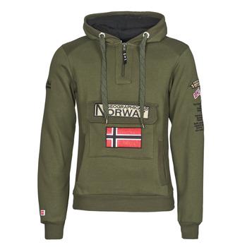 Abbigliamento Uomo Felpe Geographical Norway GYMCLASS Kaki