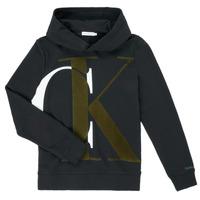 Abbigliamento Bambino Felpe Calvin Klein Jeans IB0IB00628-BEH Nero