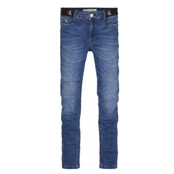 Abbigliamento Bambina Jeans skynny Calvin Klein Jeans IG0IG00639-1A4 Blu