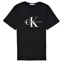 Abbigliamento Unisex bambino T-shirt maniche corte Calvin Klein Jeans MONOGRAM Nero