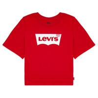 Abbigliamento Bambina T-shirt maniche corte Levi's LIGHT BRIGHT CROPPED TEE Rosso