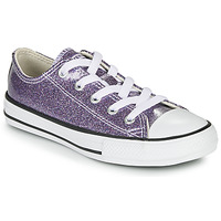Scarpe Bambina Sneakers basse Converse CHUCK TAYLOR ALL STAR - COATED GLITTER Viola