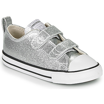 Scarpe Bambina Sneakers basse Converse CHUCK TAYLOR ALL STAR 2V - COATED GLITTER Argento