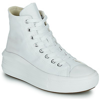 Scarpe Donna Sneakers alte Converse Chuck Taylor All Star Move Canvas Color Hi Bianco