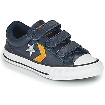 Scarpe Unisex bambino Sneakers basse Converse STAR PLAYER 3V - LEATHER TWIST Blu / Mostarda
