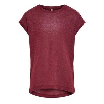 Abbigliamento Bambina T-shirt maniche corte Only KONSILVERY Bordeaux