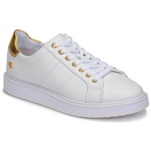 Scarpe Donna Sneakers basse Lauren Ralph Lauren ANGELINE II Bianco / Oro