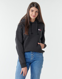 Abbigliamento Donna Felpe Tommy Jeans TJW TOMMY BADGE HOODIE Nero
