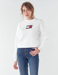 Abbigliamento Donna Felpe Tommy Jeans TJW TOMMY FLAG CREW Bianco
