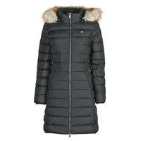 Abbigliamento Donna Piumini Tommy Jeans TJW ESSENTIAL HOODED DOWN COAT Nero