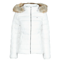 Abbigliamento Donna Piumini Tommy Jeans TJW BASIC HOODED DOWN JACKET Bianco