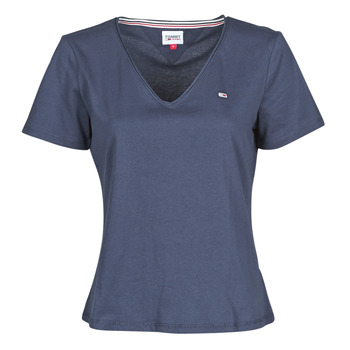 Abbigliamento Donna T-shirt maniche corte Tommy Jeans TJW SLIM JERSEY V NECK Marine