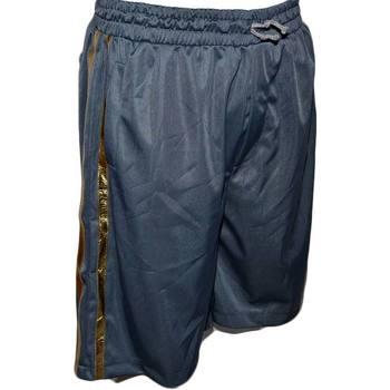 Abbigliamento Uomo Shorts / Bermuda Malu Shoes Bermuda Uomo Pantaloncini Sport Shorts Azzurro pastello strisce AZZURRO